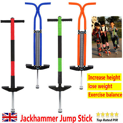 Indoor/outdoor Fun Pogo Girl Boy Stick Spring Jump Bounce Exercise Toy For Gift