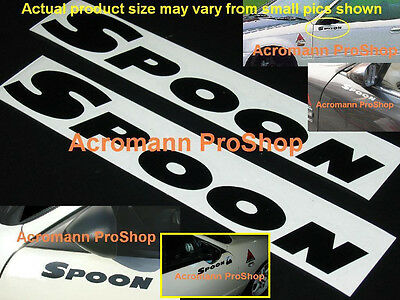 "2x 7"" 17.8cm SPOON Decal Sticker sports for civic integra prelude accord s2000 r"