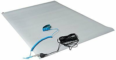 """Bertech ESD Mat Kit with a Wrist Strap and a Grounding Cord, 18"""" Wide x 30"""" Long"""