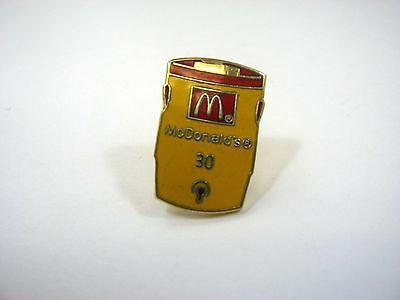 Vintage Collectible Pin: McDonald's Water Coolor 30 Design