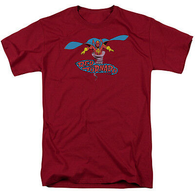 RED TORNADO DC Comics Hero Licensed Adult T-Shirt All Sizes
