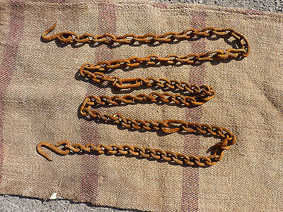 Approx 9,8 ft. Rusty Old Farm Chain Primitive with two hooks