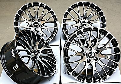 """18"""" Cruize 170 Bp Alloy Wheels Black Polished Face Concave 5X108 18 Inch Alloys"""