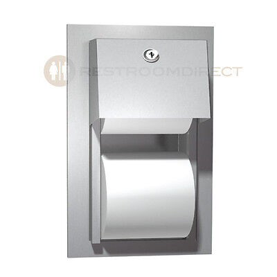 ASI 10-0031 Semi-Recessed Stainless Steel TP Holder, Dual Roll (One in Reserve)
