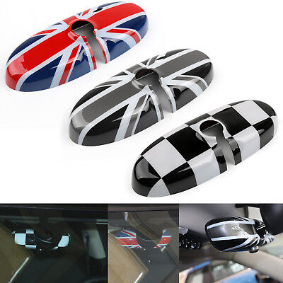 UK Flag Checkered Espejo Retrovisor Cubierta Para MINI Cooper R55 R56 R57 BS6