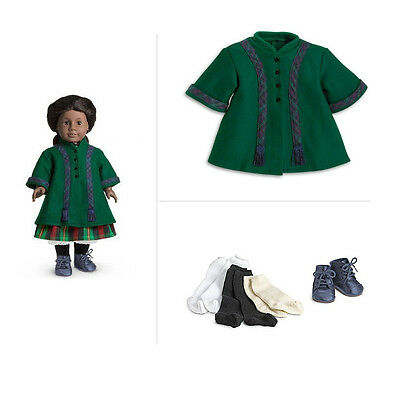 American Girl ADDY DUO WINTER COAT + SHOES & SOCKS For Dolls NEW in Box Addy's