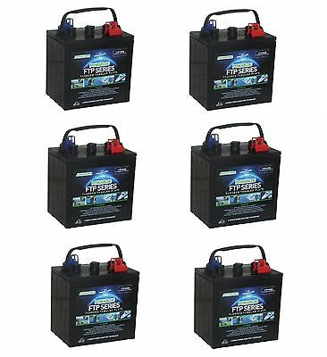 6 x  6 Volt Powabloc T105 Deep Cycle Battery (FFP6210)