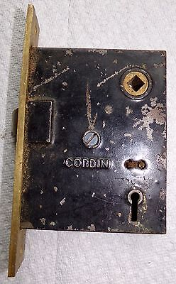 Antique Corbin door lock mechanism.