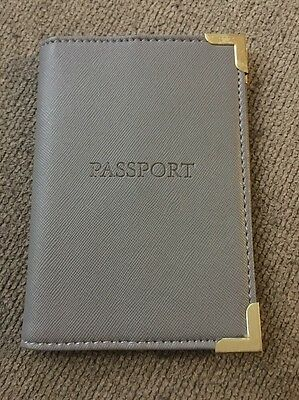 LAURA ASHLEY PASSPORT COVER CASE Grey FAUX LEATHER