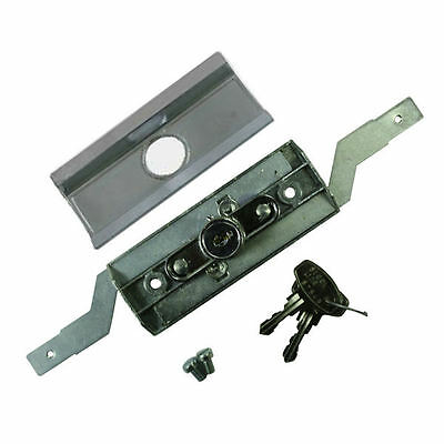 STEEL LINE Garage Door Lock Roller Shutter Lock Barrel Silver Fascia & 2 Keys