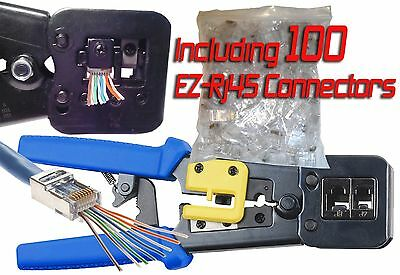 Ez-Rj45, Ez Rj45, Ezrj45, Rj45 Crimp Tool, Including 100  Ez-Rj45 Connectors.