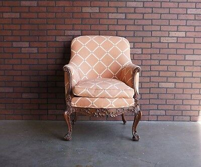 Antique French Carved Chair / 19th Century Chair / French Louis XV / Rococo
