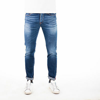 Jeans Roy Rogers slim 529 Denim Elast. Apua uomo made in italy P/E 17
