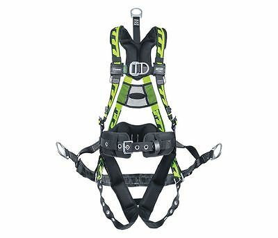 MILLER AirCore Series Small/ Medium Full Body Harness, Green, Side D-Ring