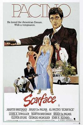 Scarface Movie POSTER 27 X 40 Al Pacino, Steven Bauer, J, LICENSED, USA, NEW