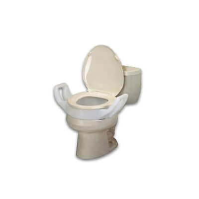 Ableware 725753211 Bath Safe Elevated Toilet Seat W/ Arms Regular