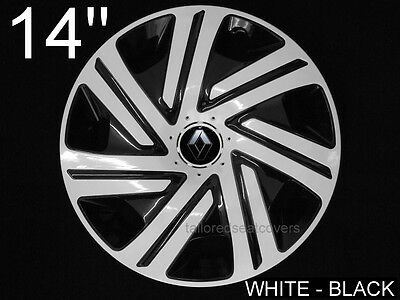 14'' Wheel trims  for Renault Kangoo Megane Twingo 4 x14'' black - white