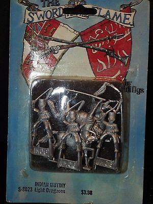 Minifigs MOUNTED DRAGOONS INDIAN MUTINY Sword & Flame Metal Colonial Miniature
