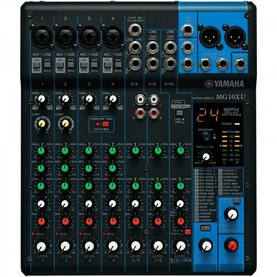 Yamaha MG10XU 10-Channel Stereo Mixer with Effects **FREE Shipping