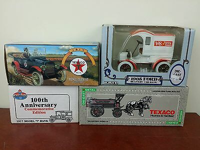 collectable banks Texaco Amoco Ertl diecast model t ford maxwell toy car truck