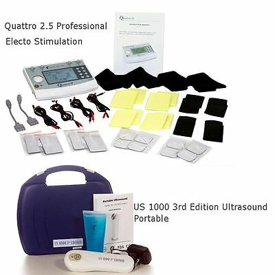 Quattro 2.5 Electrotherapy 4 Channel IF EMS & TENS US 1000 Ultrasound Portable