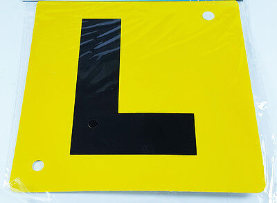 """New """"L"""" Car Learner Sign Driving School Safety With Suction Cup UK Seller"""