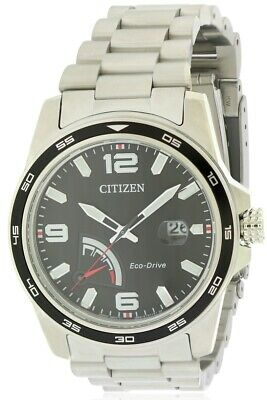 Citizen Eco-Drive PRT Stainless Steel Mens Watch AW7030-57E