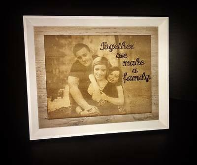 Image/photo Laser Engrave on Timber or Acrylic Size Sm Gift Weddings Peraonal