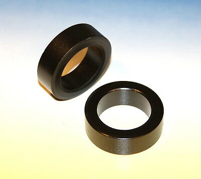 "Large Toroid Core, Power Ferrite 2""  49mm 500mT  Bsat  Qty: 2  USA genuine"