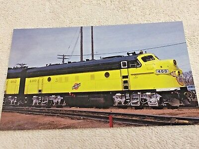 """CHICAGO AND NORTHWESTERN 400's Upgraded F7 #400 Post Card, 5-1/2"""" x 3-1/2"""""""