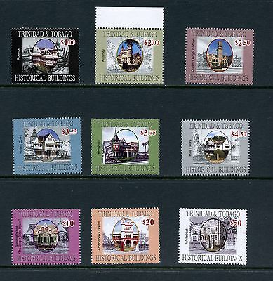 Trinidad & Tobago 2007  #818-26 Historic Buildings  9v.  MNH  J478