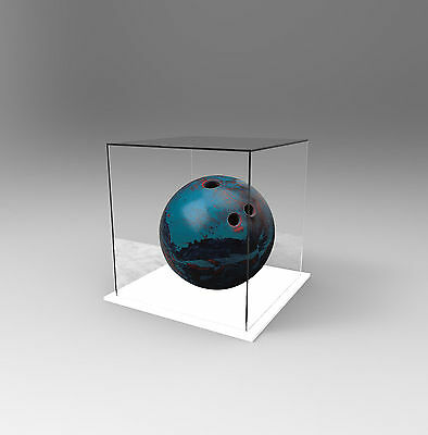 Tenpin Bowling Ball Deluxe Display Case Acrylic Perspex - WHITE
