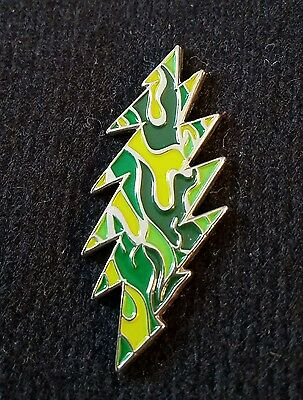 Grateful Dead-Green Bolt Pin Silver Metal Limited Edition