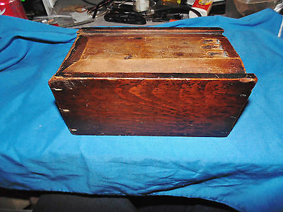 antique Berks county PA pine or poplar slide top candle box