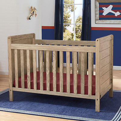 Serta Cali 4-in-1 Convertible Crib - Rustic Whitewash