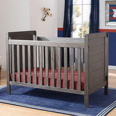 Serta Cali 4-in-1 Convertible Crib - Rustic Grey