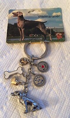 Little Gifts Weimaraner Dog Keychain Key Ring 6 charms NEW