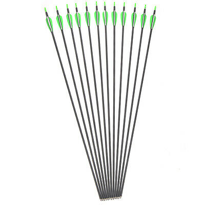 12pcs 30inches Shaft Length Archery Mixed Carbon Arrows Handmade Iron Tips AF