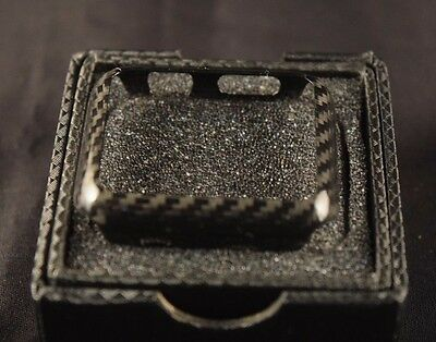 Real 100% Carbon Fiber Case for Apple Watch 38mm Series 2 3 - Gloss Finish - New