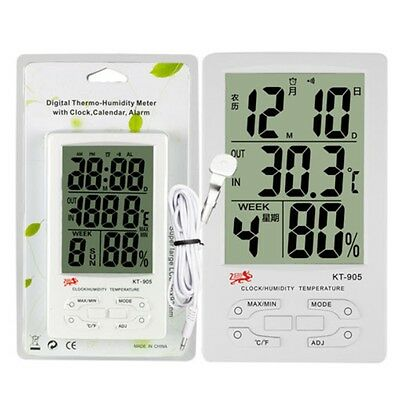 Digital LCD C/F Temperature Thermometer Hygrometer Humidity Meter Indoor/Outdoor