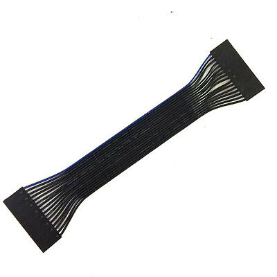 16Pin Female to Female 2.54mm Pitch IDC Connector Ribbon Flat Fixed Single Cable