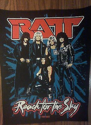 RATT BACKPATCH Reach For The Sky back patch band VINTAGE 1989 HTF