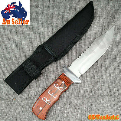 26cm Survival Tactical Hunting Camping Military Bowie Sharp Knife Combat A0021