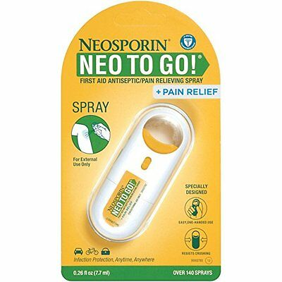 NEW Neosporin + Pain Relief NEO TO GO First Aid Antiseptic/Relieving Spray 6/17