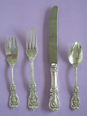 Vintage Reed & Barton Francis I Sterling 4 Piece Place Setting No Monograms