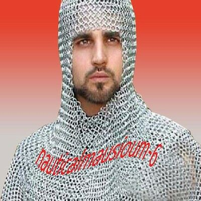 Round Rivet with washer coif / hood medieval hood ,Chainmail
