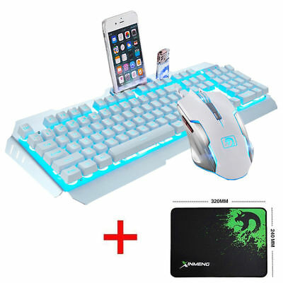 GB Wired Backlit Usb Ergonomic Gaming Keyboard + Gamer PC Mouse Sets + Mouse Pad