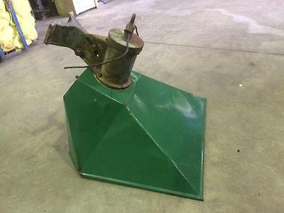 Vintage Antique Green Enamel Large Flood Light Lamp Shade Cast Iron Industrial