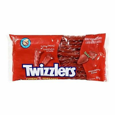 Canadian Twizzlers Twists Strawberry Candy fresh from Canada 454g 1 package