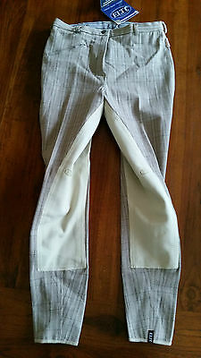 Elte Paris Lifestyle breeches check beige breeches sz40 BNWT free post D72